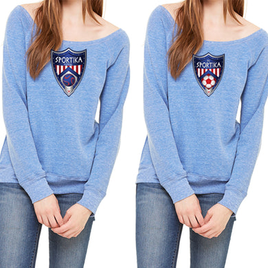 Women's Fleece Wide Neck Sweatshirt