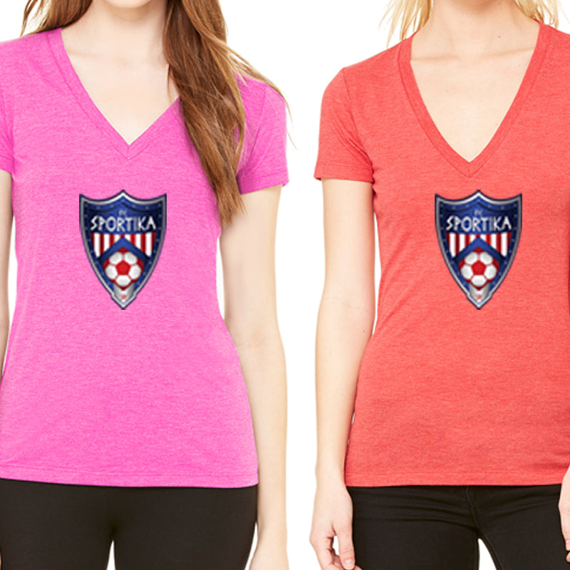 Women's Cotton V-Neck FC Soccer
