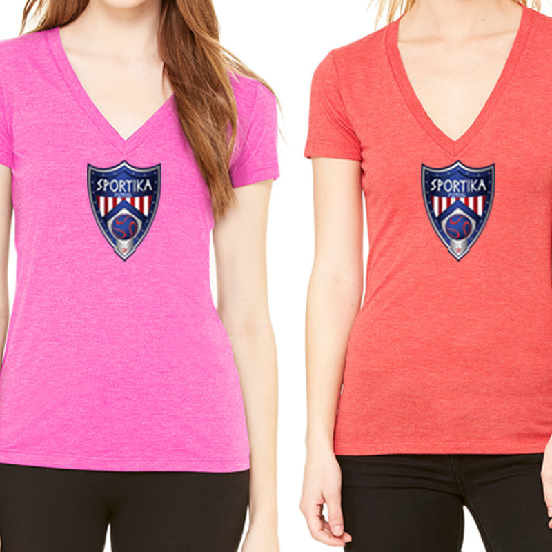 Women's Cotton V-Neck Futsal Soccer