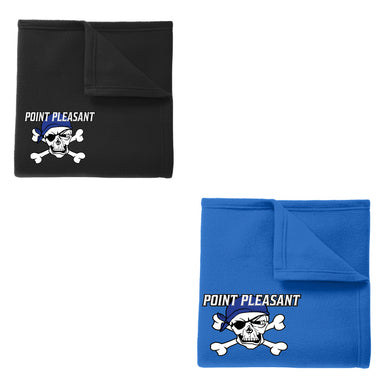 Fleece Blanket with Embroidered Logo