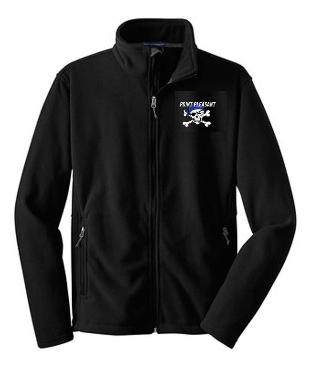 Football and Cheer Fleece Jacket with Embroidery