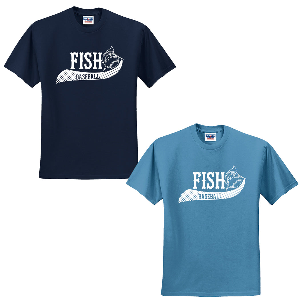 NJ Marlins Fish Baseball Cotton T-Shirt