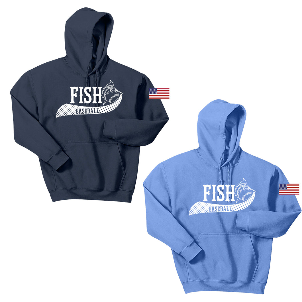 NJ Marlins Fish Baseball Cotton Hoodie