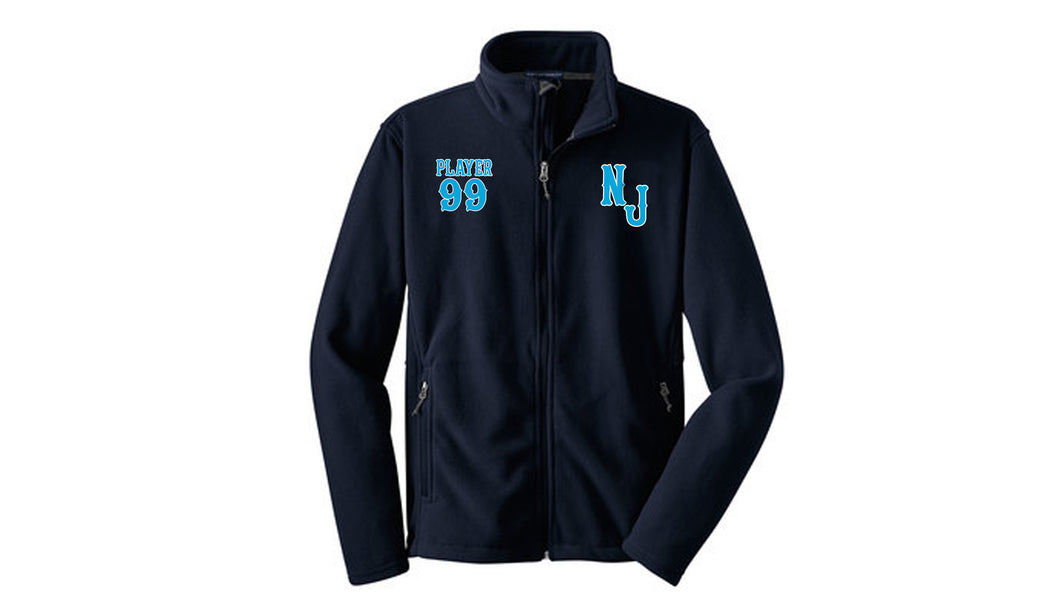 NJ Marlins Fleece Jacket with Embroidery