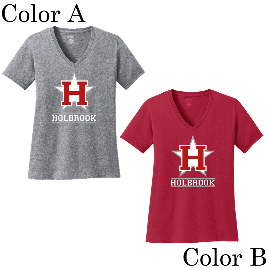 Holbrook Little League Short Sleeve V-Neck Shirt