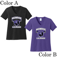 Monroe Lacrosse Ladies Short Sleeve V-Neck Shirt