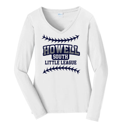 Copy of Ladies Long Sleeve V-Neck Shirt
