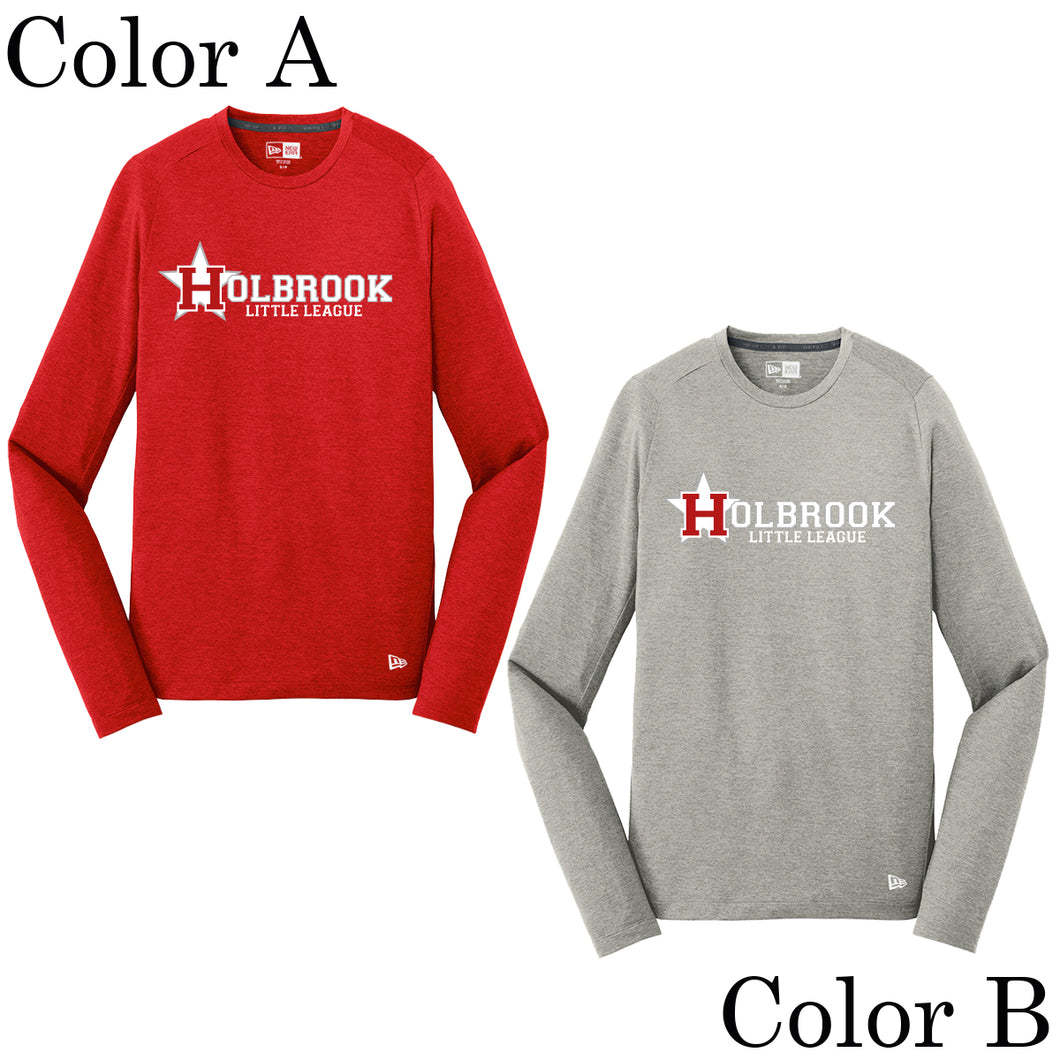 Holbrook Little League New Era Long Sleeve Performance Crew Tee