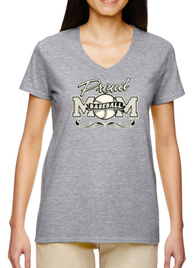 Women's V-Neck Proud Mom