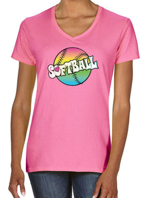Women's V-Neck Softball