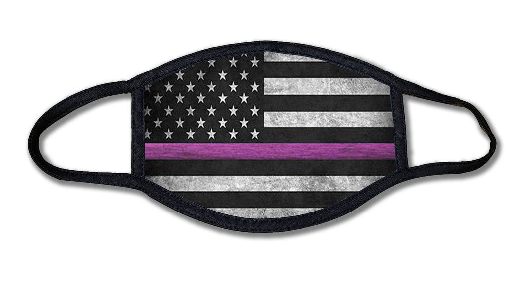 Thin Pink Line Cancer Awareness Face Mask