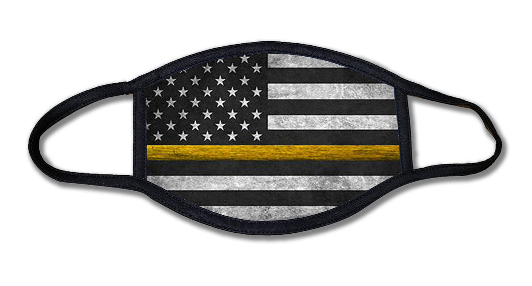 Thin Yellow Line Dispatch Face Mask