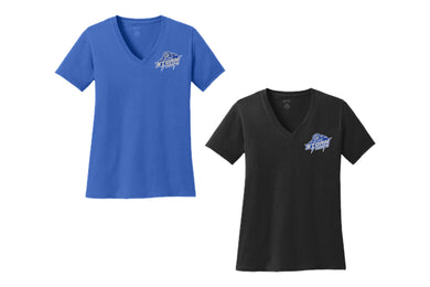 Storm Hoops Ladies Short Sleeve V-Neck Shirt