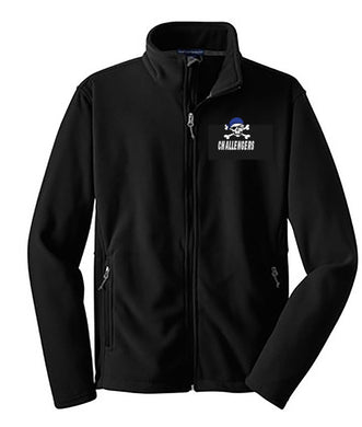 Football Fleece Jacket with Embroidery