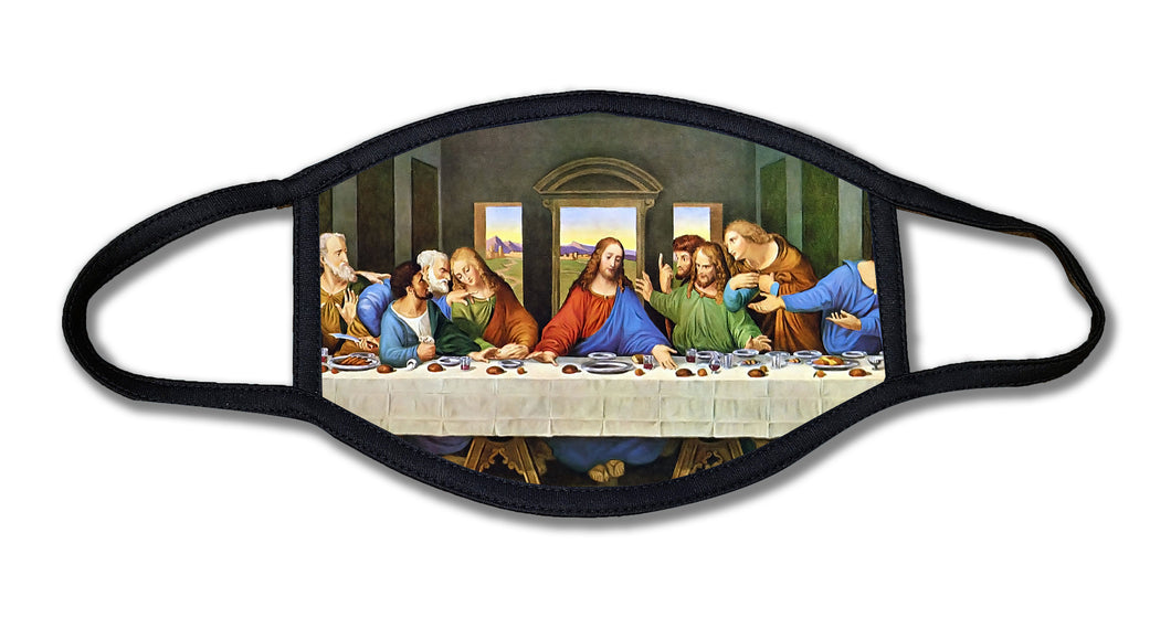 Last Supper Art Jesus Face Mask