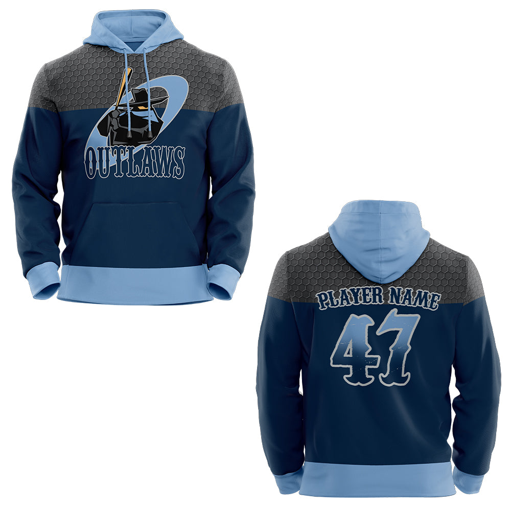 Outlaws Sublimation Custom Hoodie