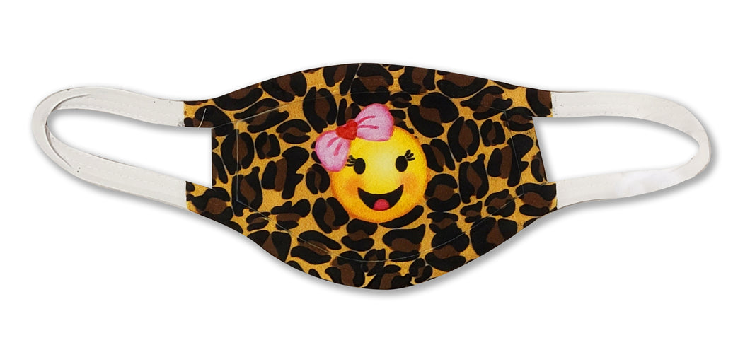 YOUTH Cheetah Emoji Face Mask