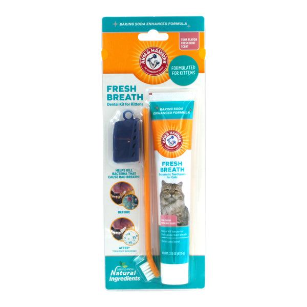 Arm & Hammer Fresh Breath Dental Kit for Kittens, Tuna | 72 Piece per Carton