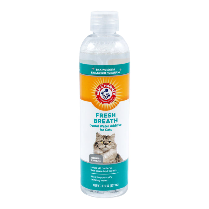 Arm & Hammer Fresh Breath Dental Water Additive for Cats, Odorless & Flavorless | 24 Piece per Carton