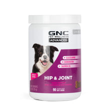 GNC Pets ADVANCED, Hip & Joint, All Dog, 90-ct 3.5g Soft Chews in 24oz White Canister | 12 Piece Per Carton