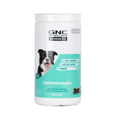 GNC Pets ADVANCED, Coprophagia, All Dog, 90-ct 2.2g Soft Chews in 16oz White Bottle | 12 Piece Per Carton
