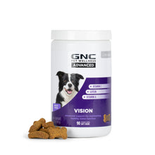 GNC Pets Advanced, Vision, All Dogs, 90-ct 2.0g Soft Chews in 15oz White Canister | 12 Piece Per Carton