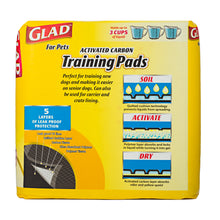 Glad for Pets Activated Carbon Training Pads for Puppies and Senior Dogs, 100 Count | 2 Piece per Carton