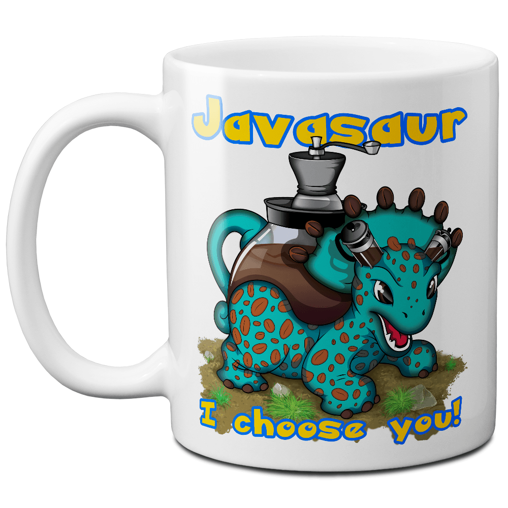 Javasaur Parody Pokemon Coffee Mug