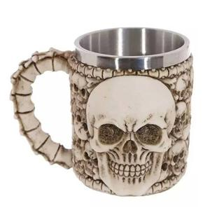 3D Stainless Steel Skull Mugs
