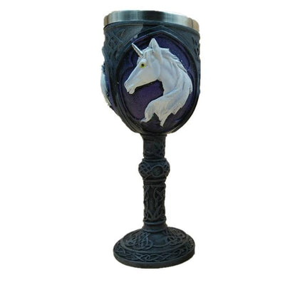 3D Stainless Steel Unicorn Goblet