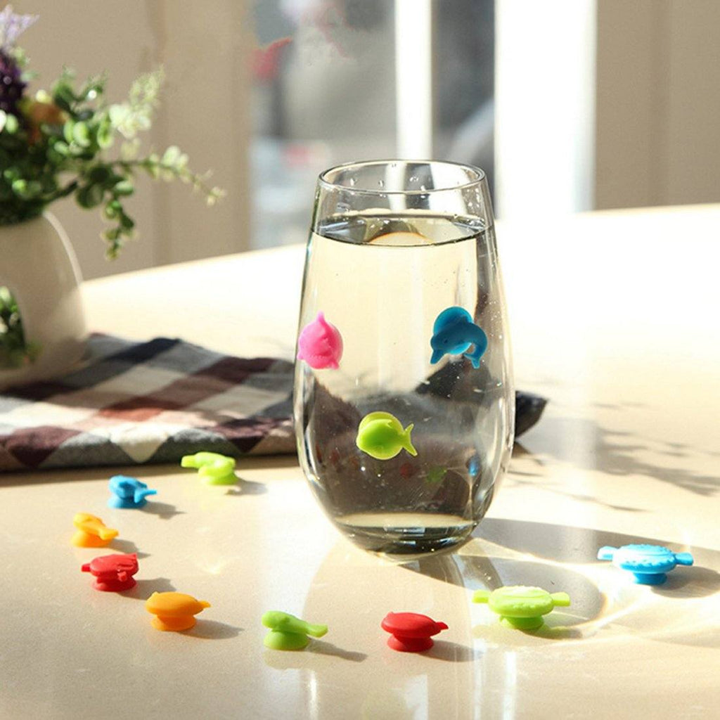 Set of 12 Assorted Fish Drink Identifiers