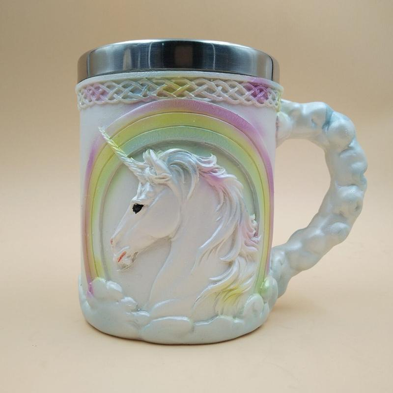 3D Stainless Steel Unicorn Mug