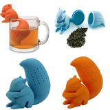 Blue and Orange Squirrel Tea Infuser