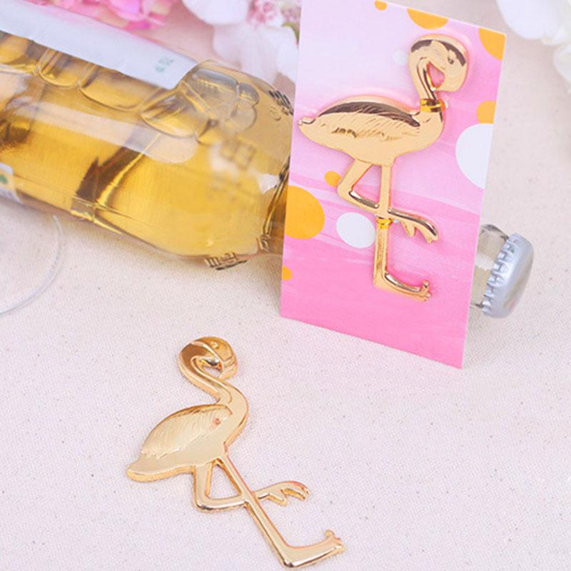 Gold Colored Flamingo Bottle Opener
