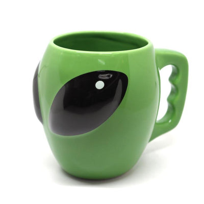 Green Alien Sculpted Mug