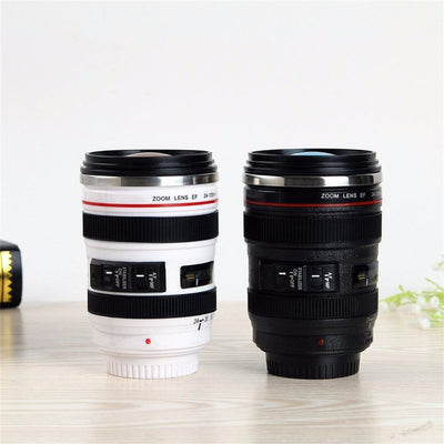 24-105mm Camera Lens Stainless Steel Thermos Travel Mug