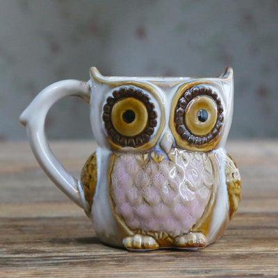 Sculpted Owl Mugs