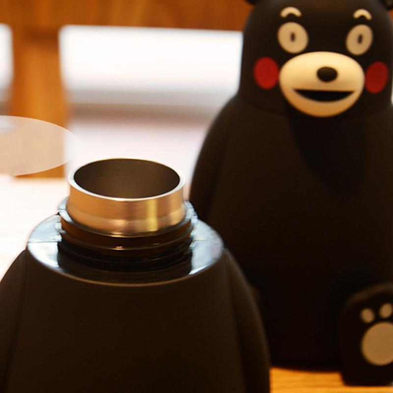 Cute Black Bear Mini Thermos
