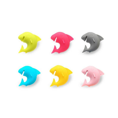 Set of 6 Shark Shaped Drink Identifiers