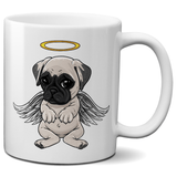 Angel Pug Coffee Mug