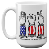 Separation of Powers - Rock Paper Scissors Mug