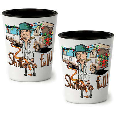 Shitter's Full Shot Glasses (set of 2)