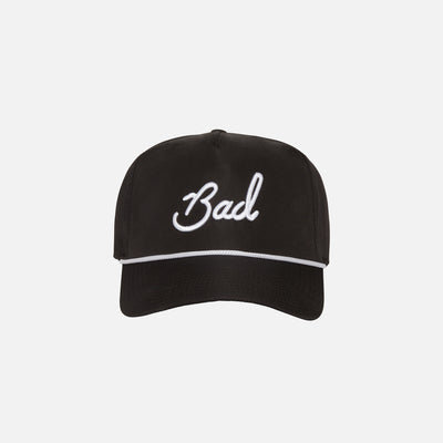 """Bad"" Rope Hat - Black"