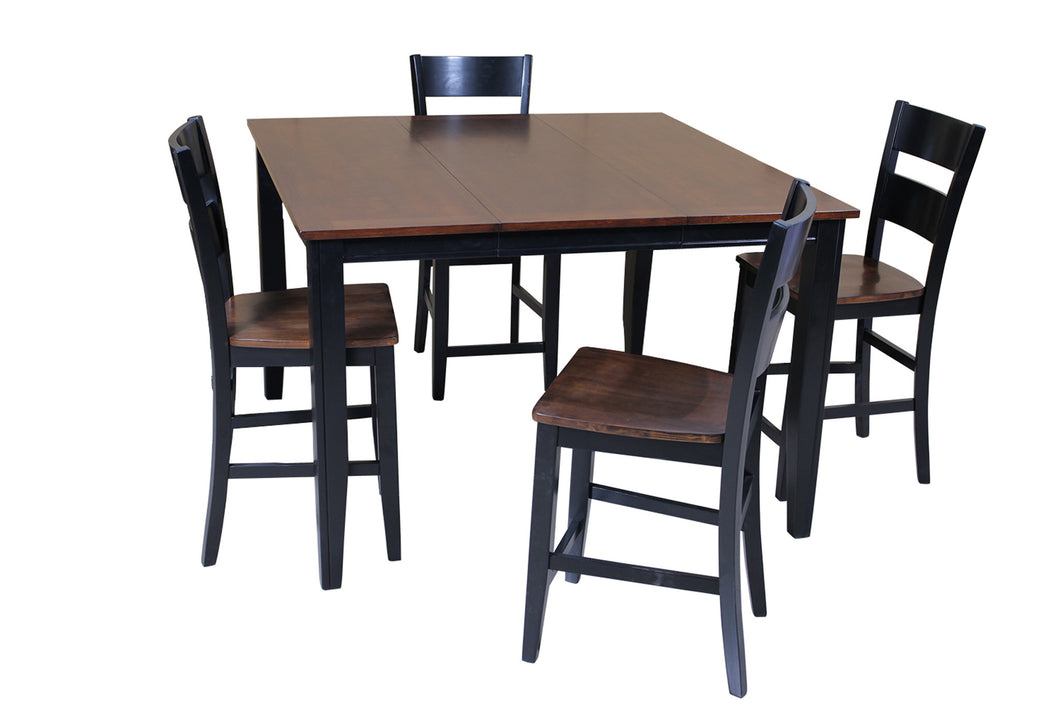 uk availability a0d2d b16cb US02TP02CP-5CB Brooklyn Five Piece Dining Set Counter Height In Cherry And  Black