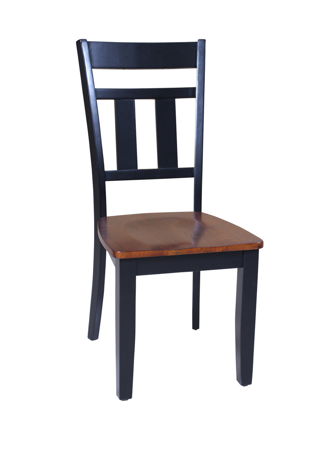 Picture of: Four Sturdy Dining Chair In Distressed Light Cherry And Black Tuscohome