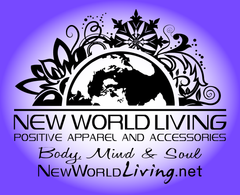 Connect with NEW WORLD LIVING Apparel and Accessories for high vibe people.