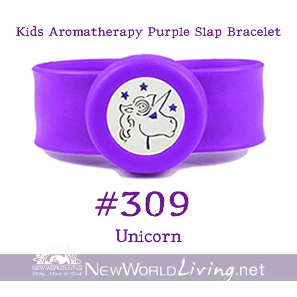Kids Aromatherapy Purple Slap Bracelet
