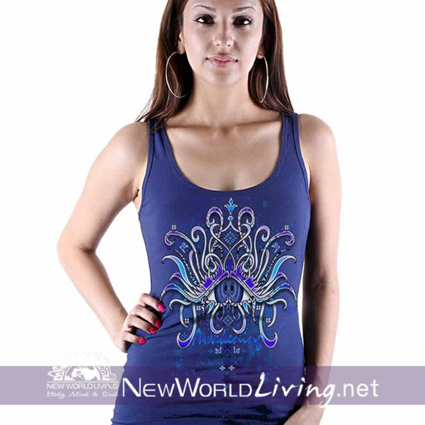 Awakening - women's classic royal blue tank top, S-3XL in 7 colors, sold exclusively at New World Living.