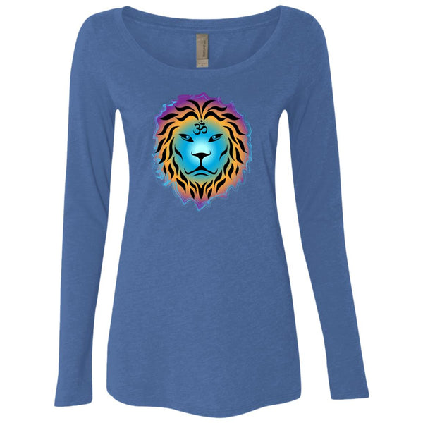 Zen Lion Womens Scoop Neck LS Shirt