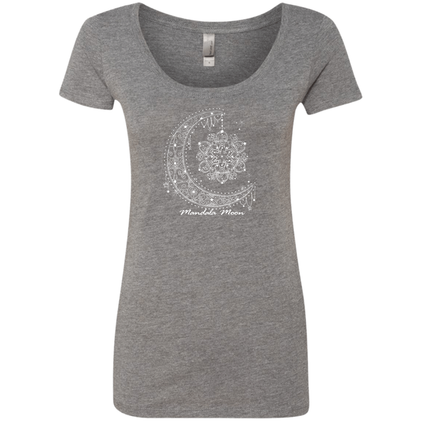 Mandala Moon Ladies Triblend Scoop Tshirt
